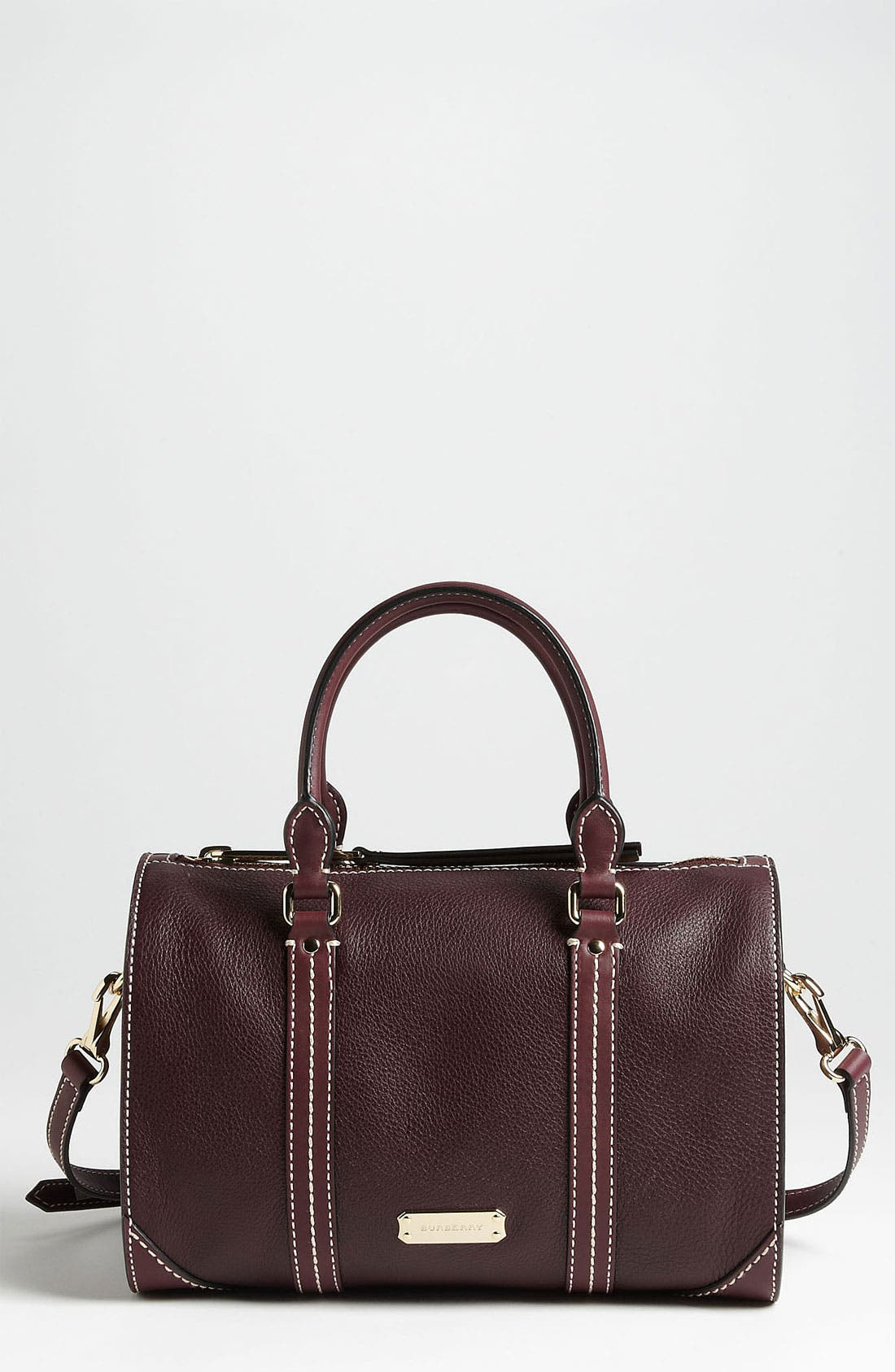Main Image - Burberry 'Alchester -Small' Leather Bowling Bag