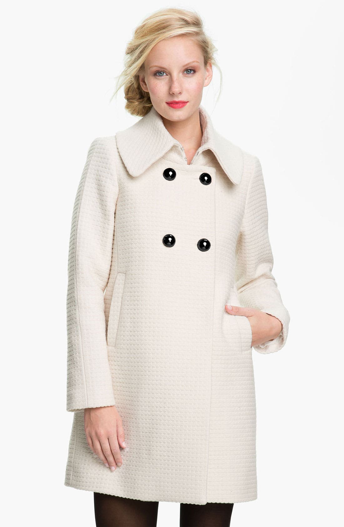 Alternate Image 1 Selected - Trina Turk Textured Double Breasted Coat
