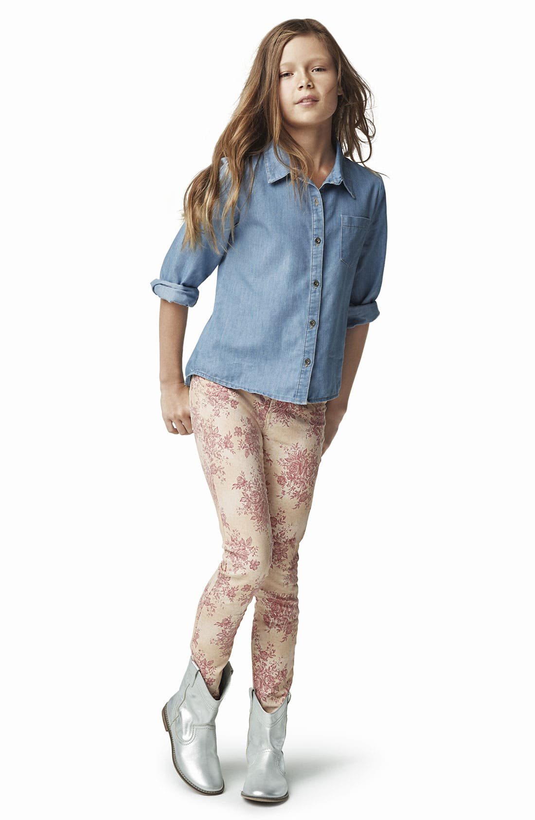 Alternate Image 1 Selected - Mia Chica Shirt, Joe's Jeans & Peek Boot (Big Girls)