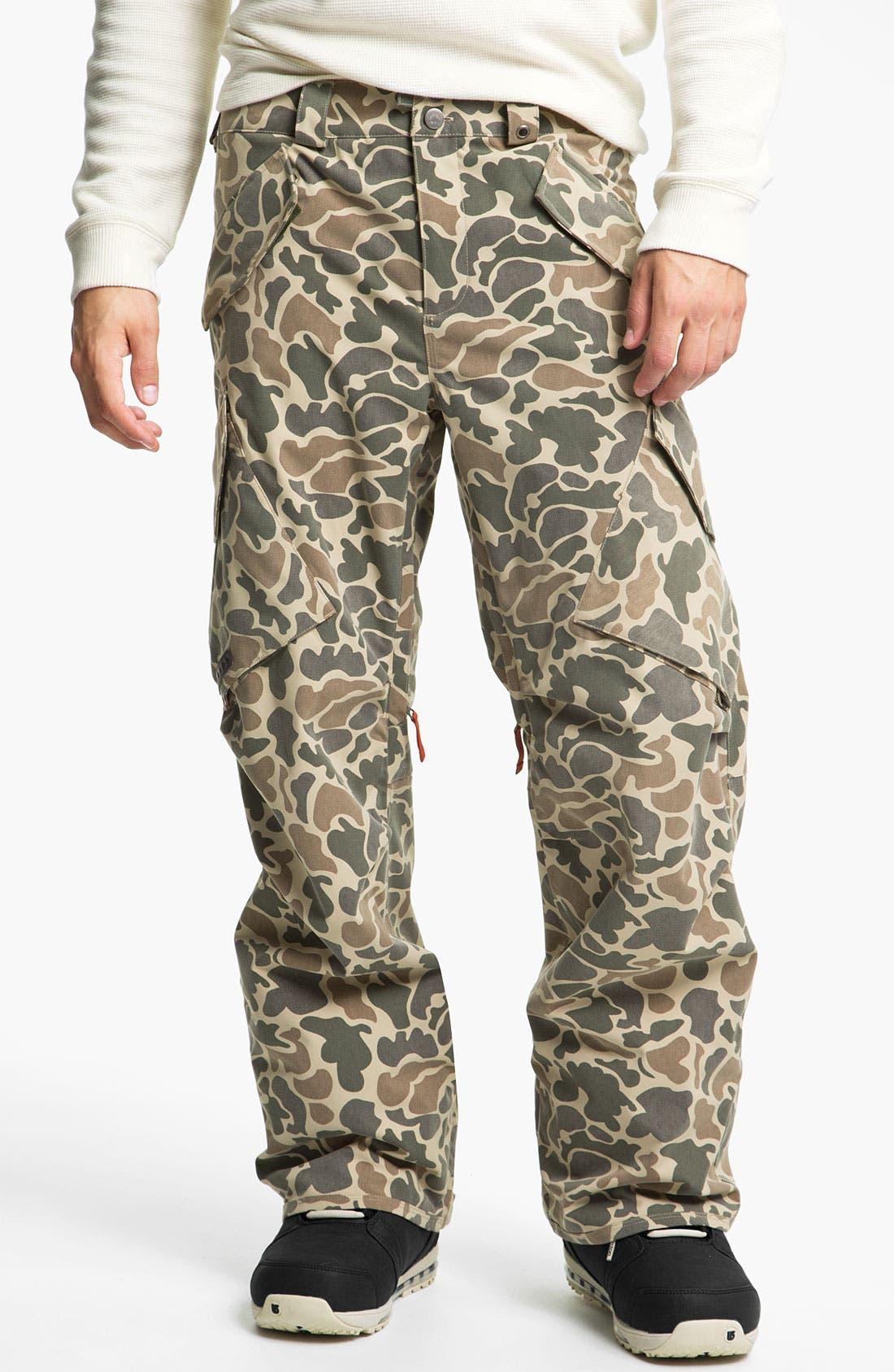 Alternate Image 1 Selected - Burton 'Hellbrook' Camo Snowboard Pants