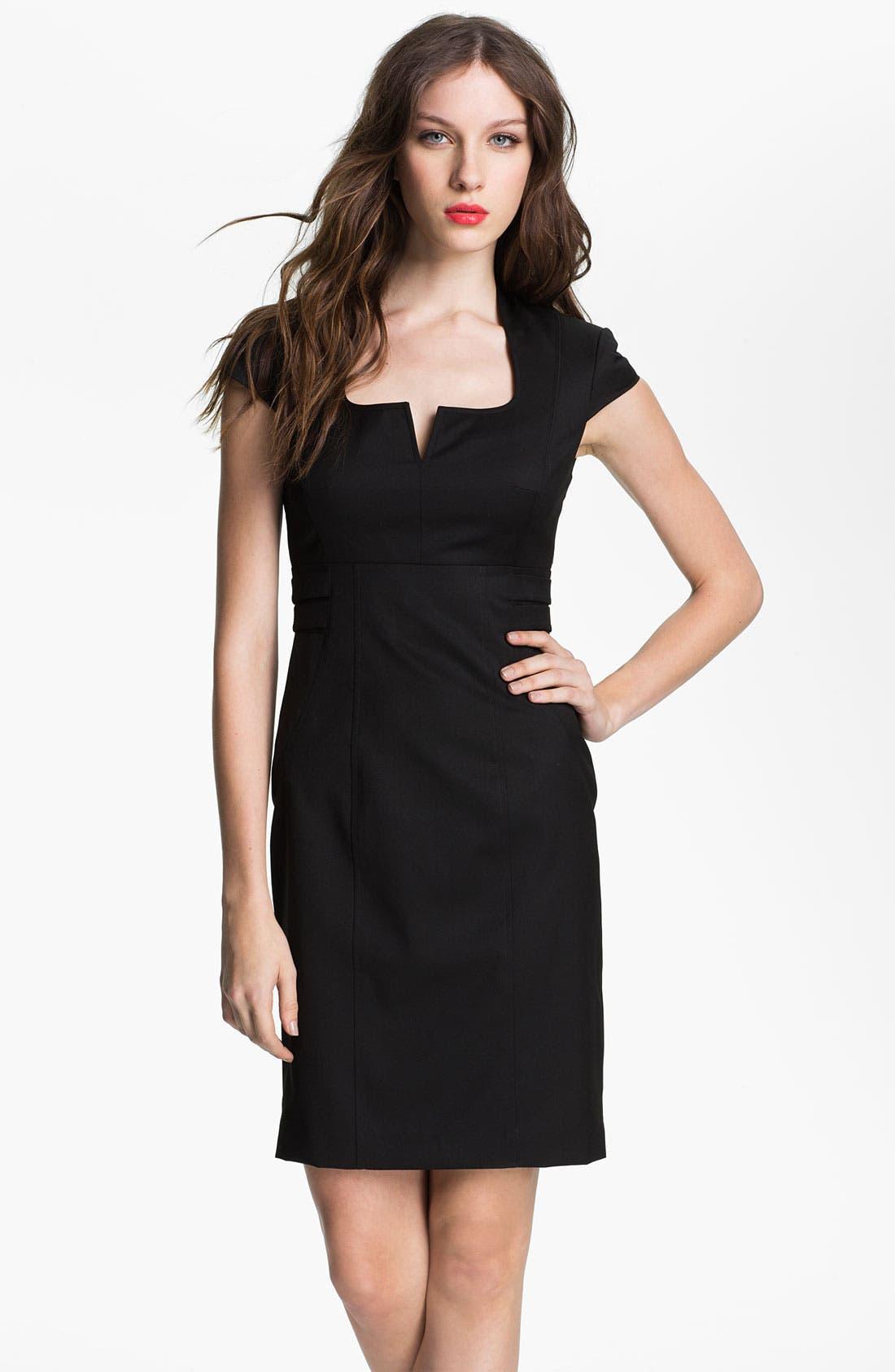 Alternate Image 1 Selected - Ted Baker London 'Agned' Wool Blend Sheath Dress