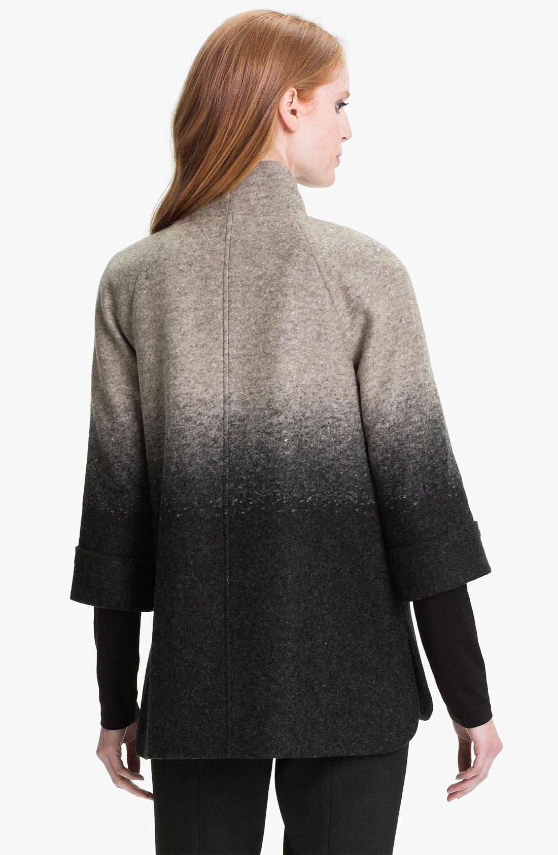 Alternate Image 2  - Nordstrom Collection 'Penelope' Ombré A-Line Jacket