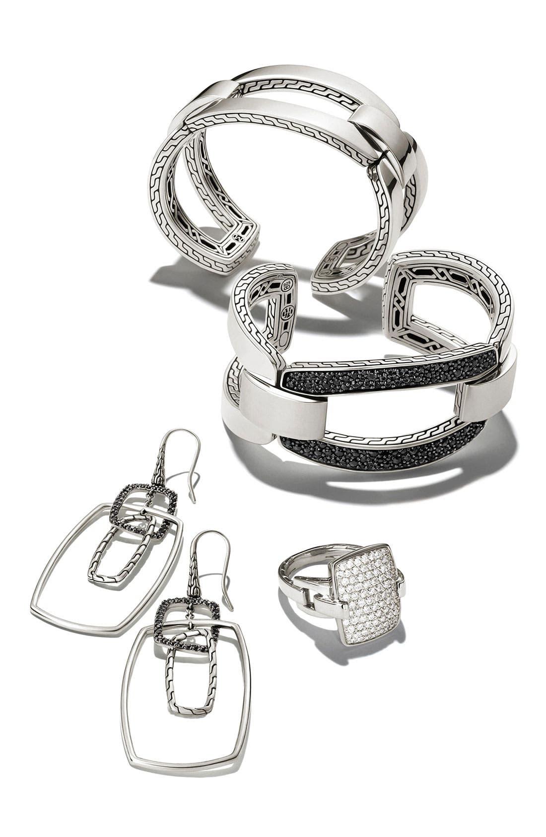 Alternate Image 3  - John Hardy 'Classic Chain' Rectangular Diamond Pavé Ring
