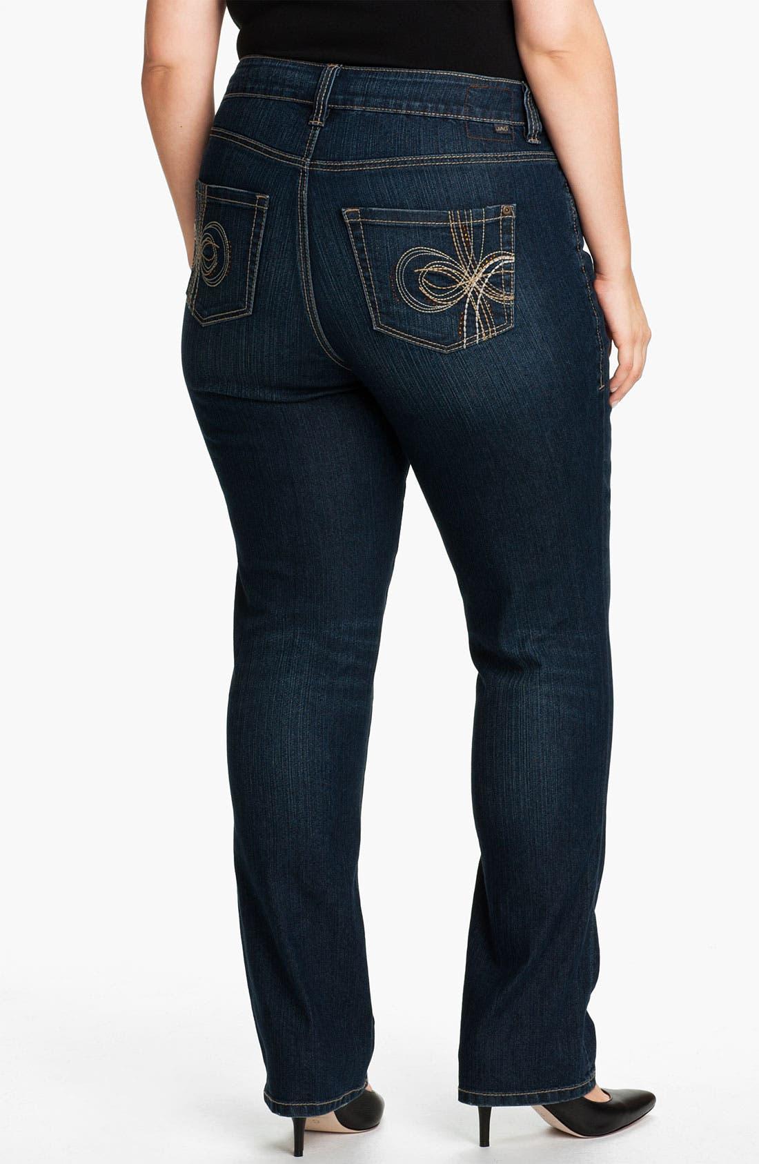 Alternate Image 2  - Jag Jeans 'Celia' Straight Leg Jeans (Plus)