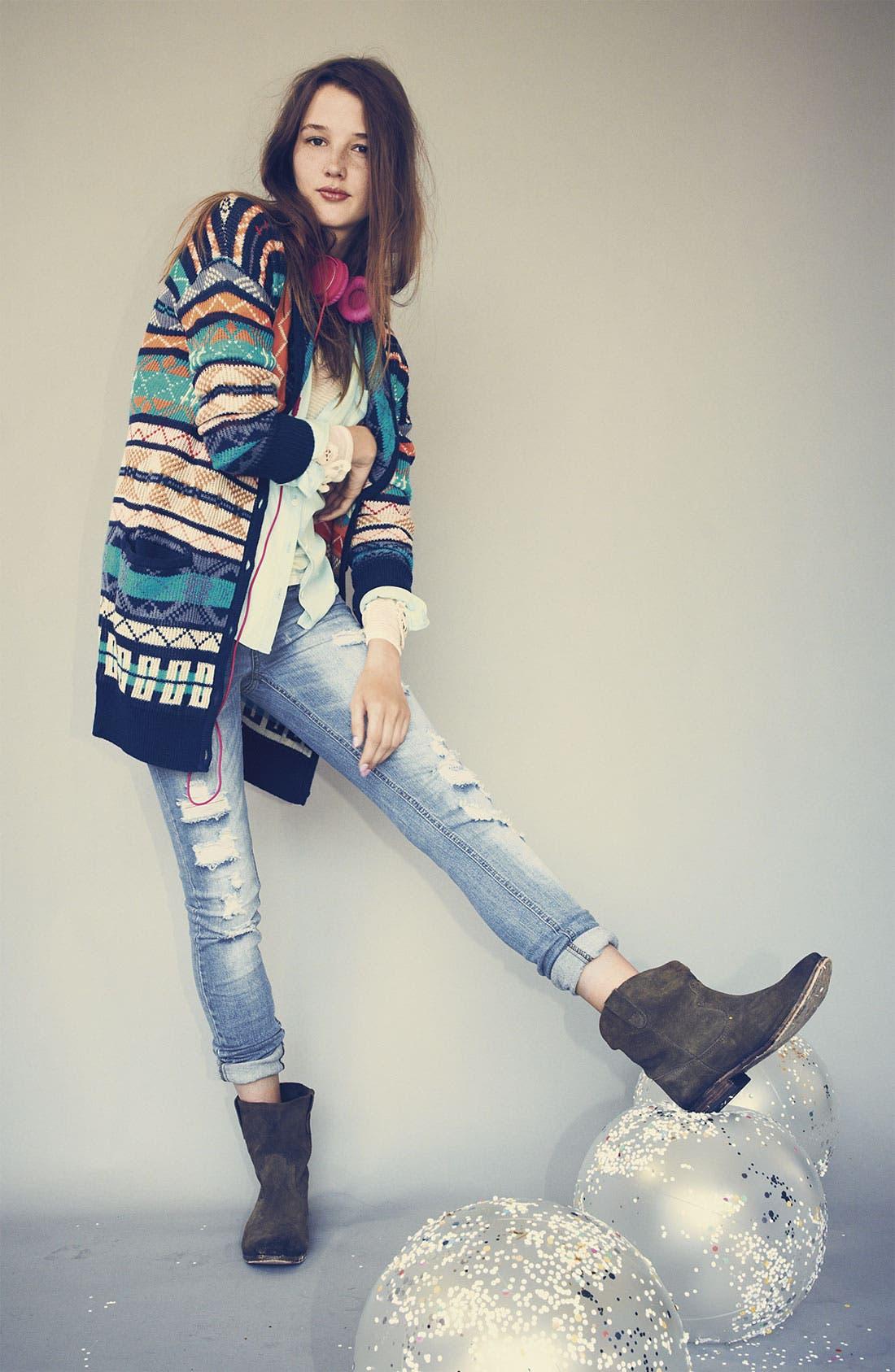 Alternate Image 3  - Rubbish® Nordic Knit Cardigan (Juniors)