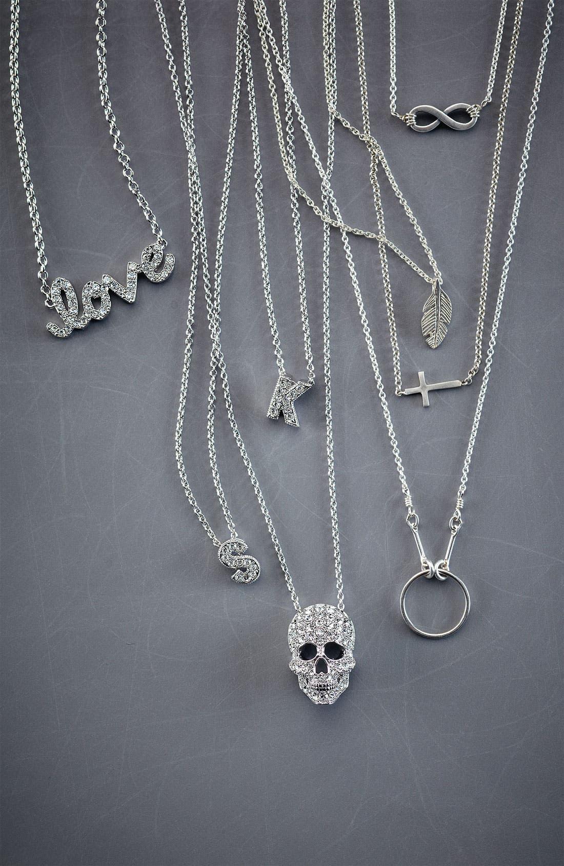 Alternate Image 2  - Ariella Collection 'Messages - Love' Script Pendant Necklace