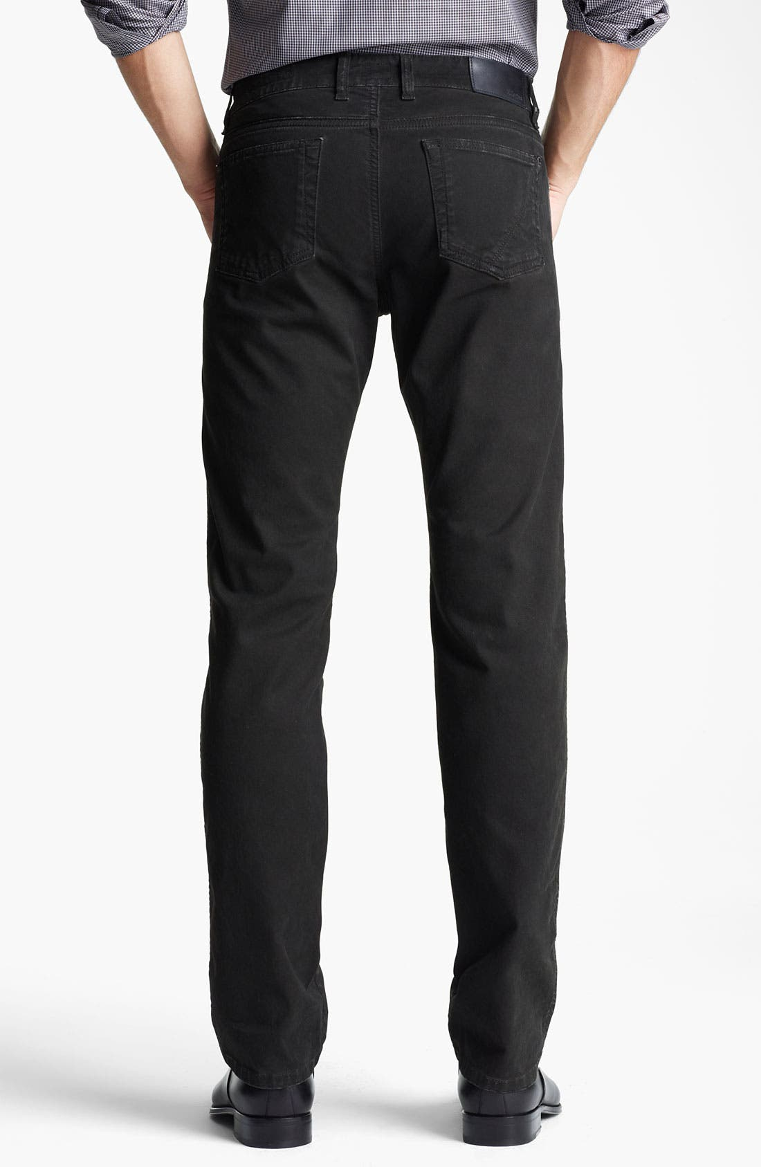 Alternate Image 2  - Z Zegna Straight Leg Jeans (Coated Black)