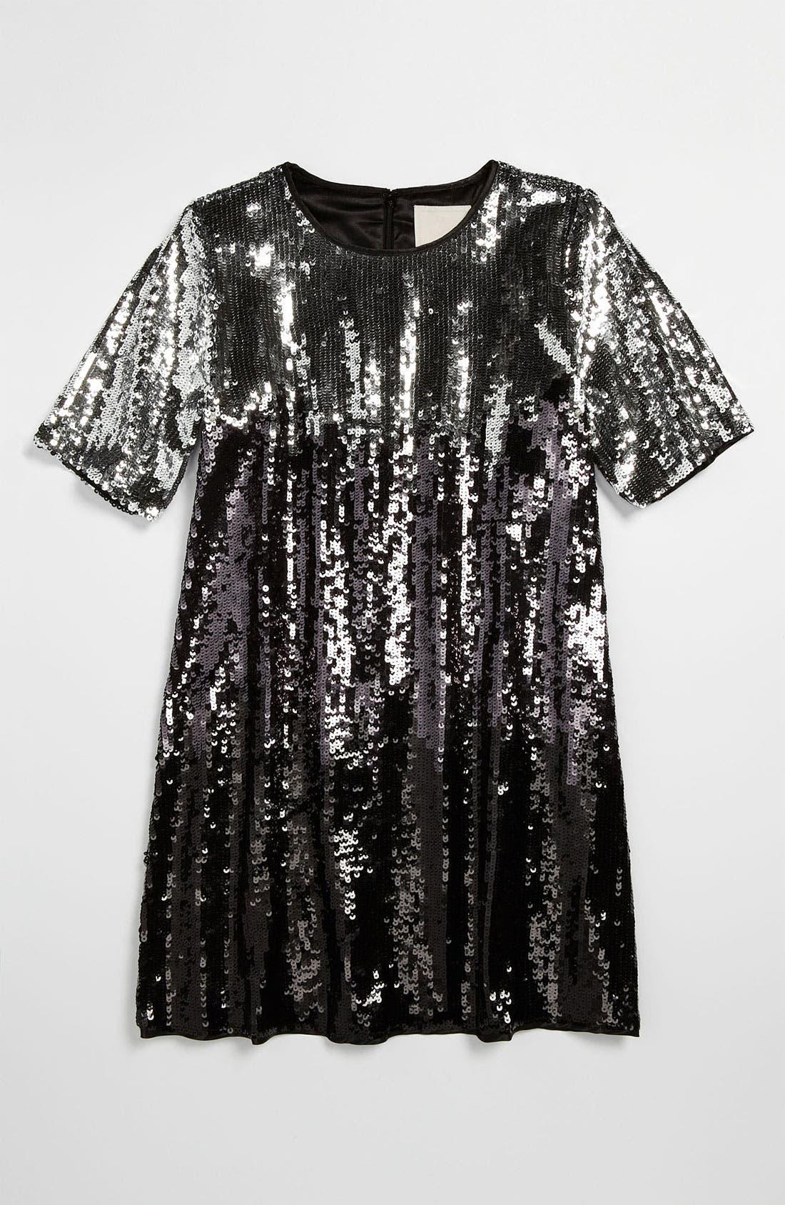 Main Image - La Piccola Danza Kidswear Sequin Ombré Dress (Little Girls & Big Girls)