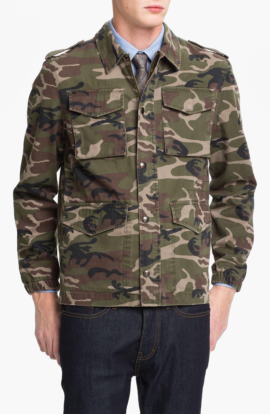 Alternate Image 1 Selected - Topman 'Blenheim' Camo Field Jacket