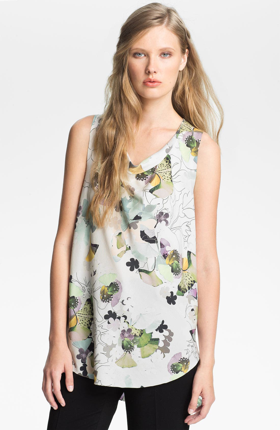 Alternate Image 1 Selected - 3.1 Phillip Lim Print Stretch Silk Blouse
