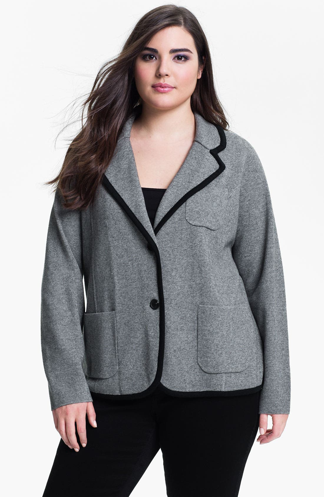 Alternate Image 1 Selected - Vince Camuto Milano Stitch Jacket (Plus)