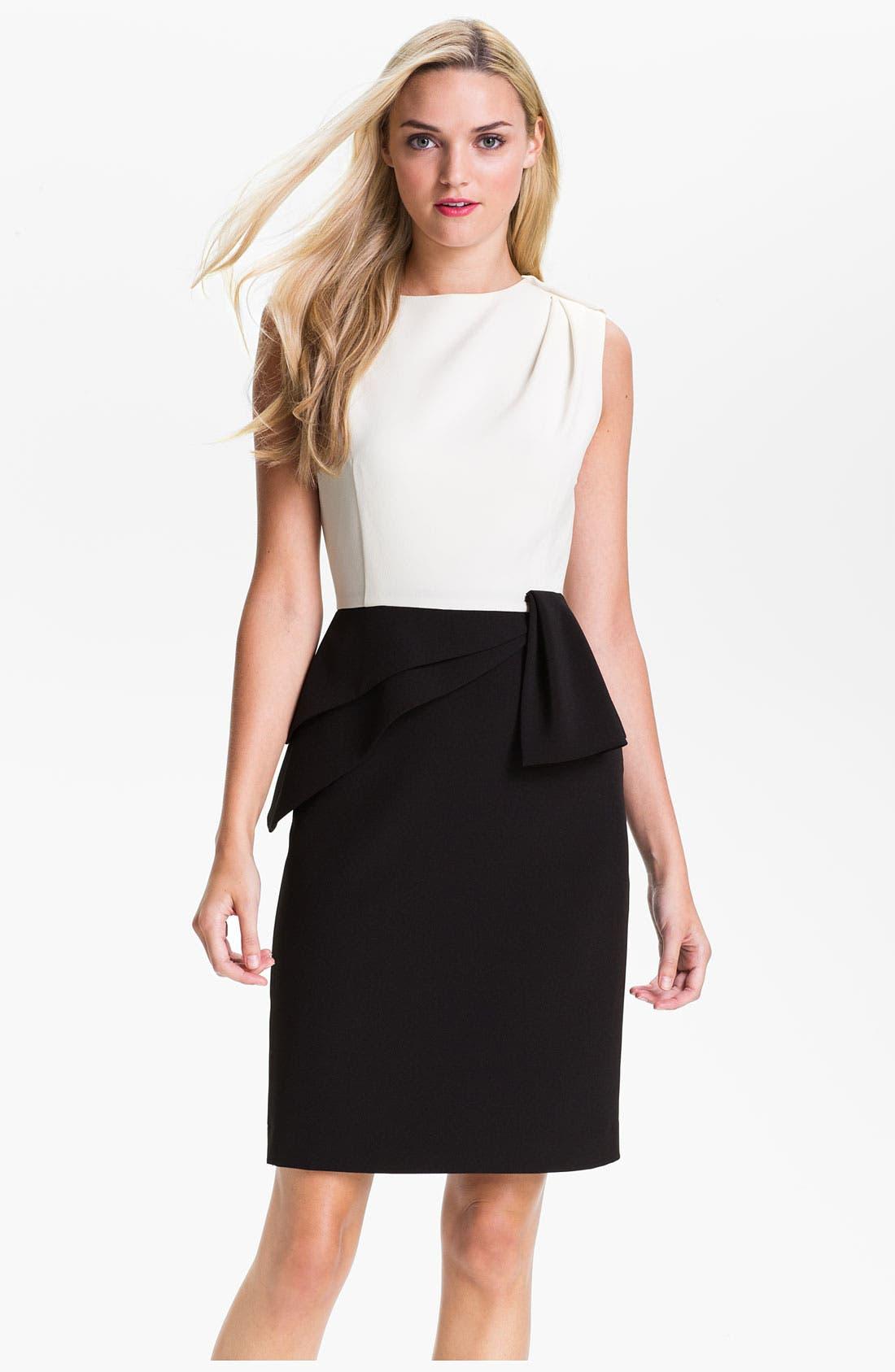 Alternate Image 1 Selected - Adrianna Papell Asymmetrical Peplum Dress (Petite)