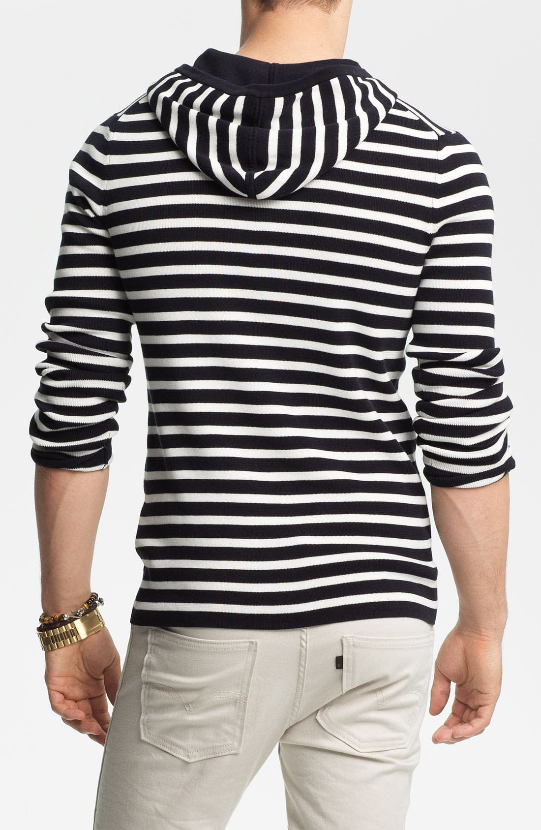 Alternate Image 2  - Vince Stripe Hooded Henley