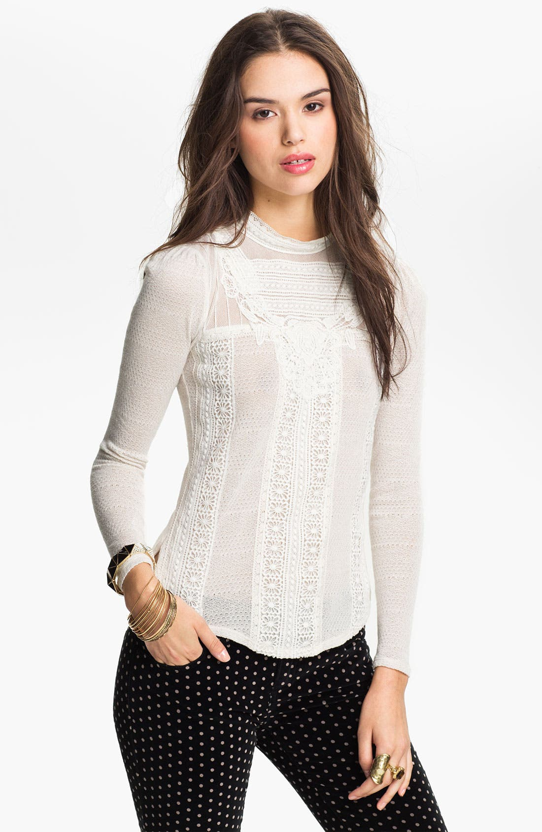 Alternate Image 1 Selected - Free People 'Victorian Romance' Top