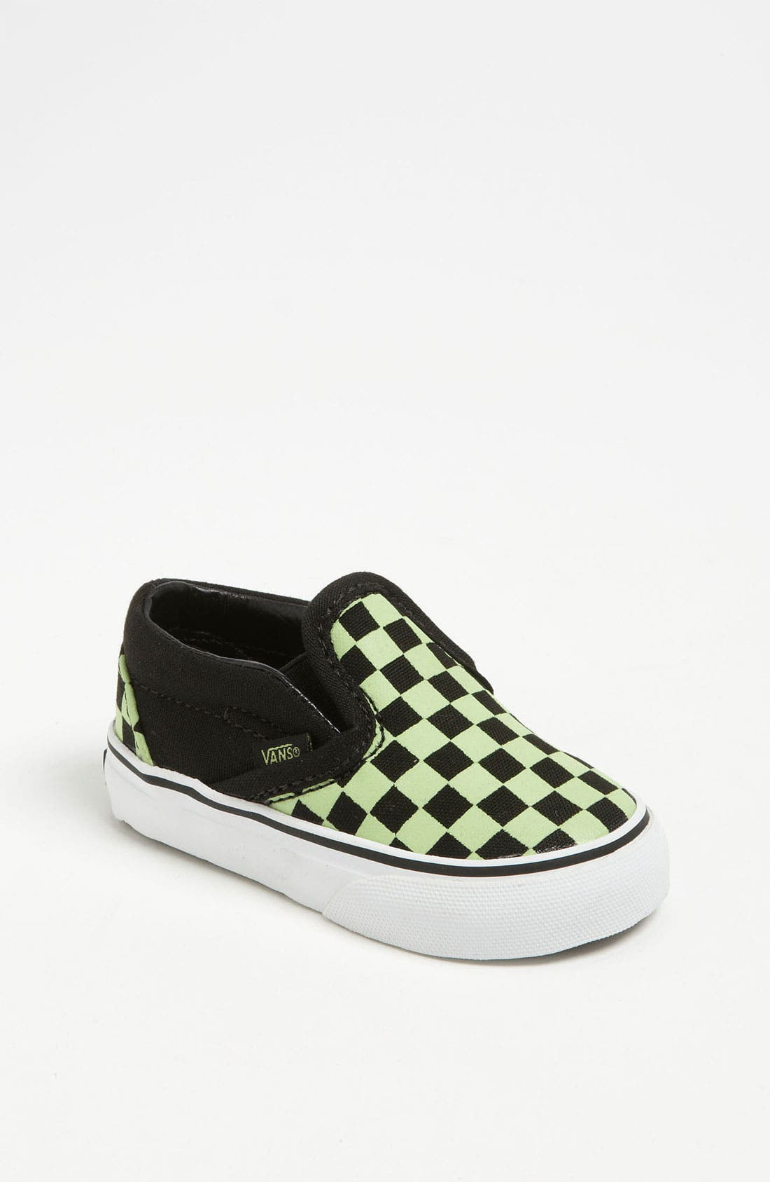Main Image - Vans 'Classic Checker - Glow in the Dark' Slip-On (Baby, Walker & Toddler)
