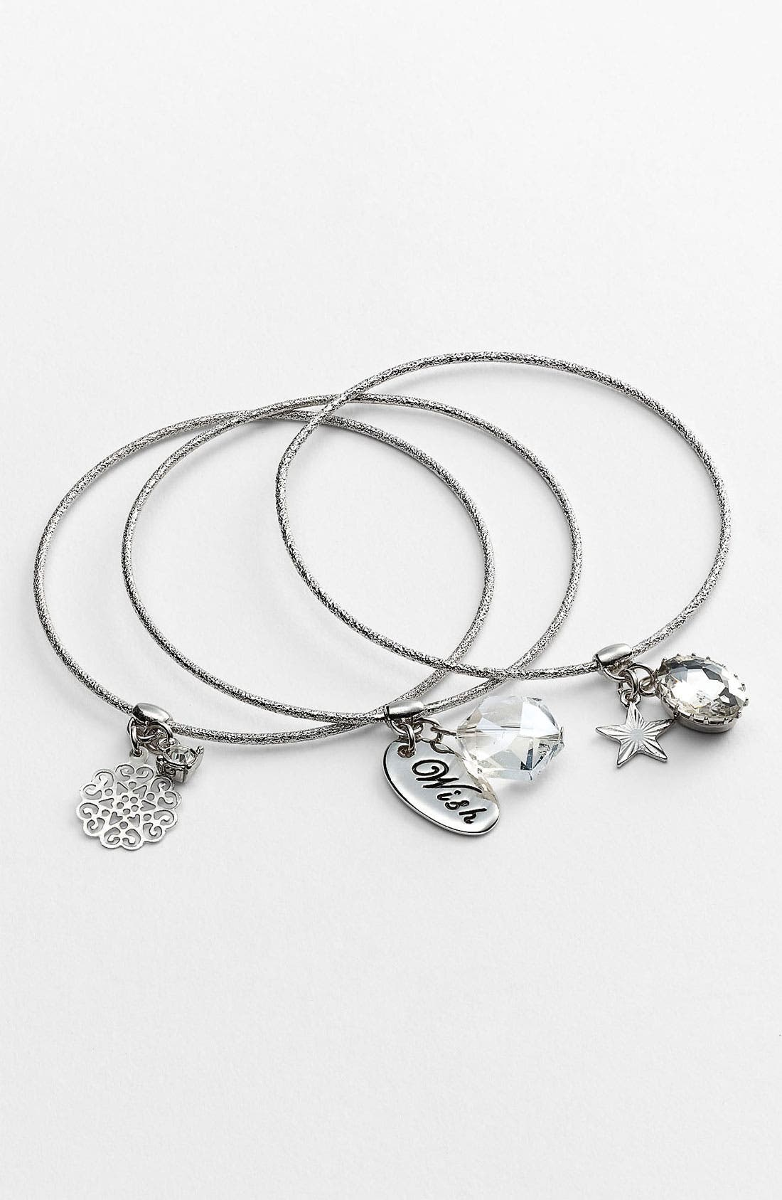 Main Image - Nordstrom 'Treasures' Charm Bangles (Set of 3)