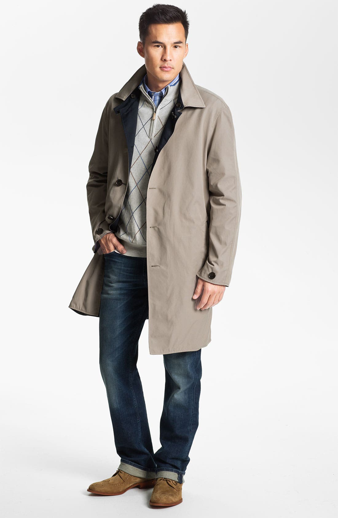 Alternate Image 4  - Façonnable Reversible Trench Coat
