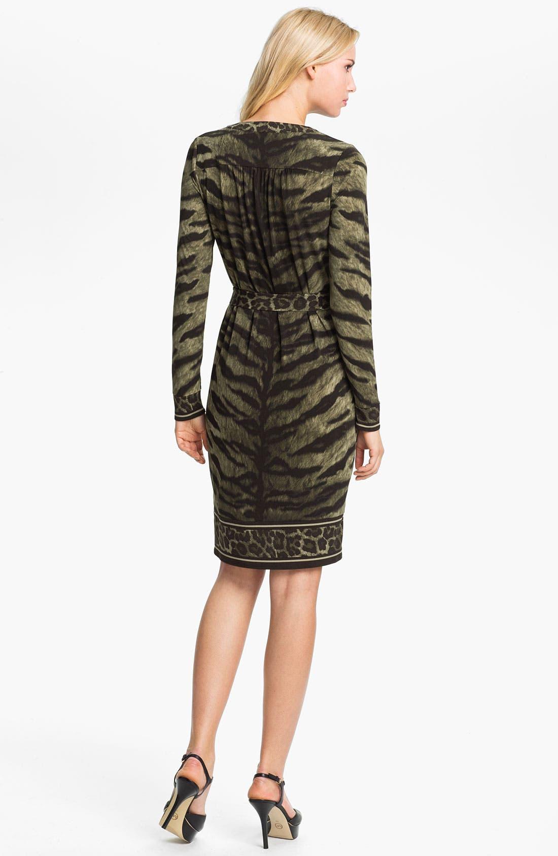 Alternate Image 2  - MICHAEL Michael Kors Print Lace Up Dress