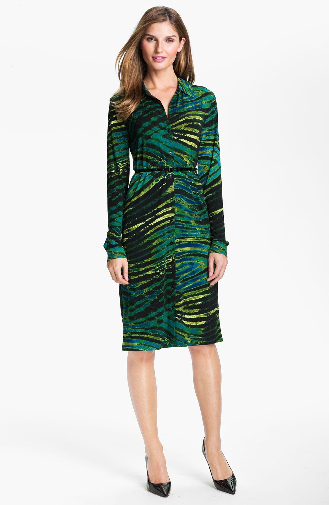 Alternate Image 1 Selected - Anne Klein Print Shirtdress (Online Exclusive)