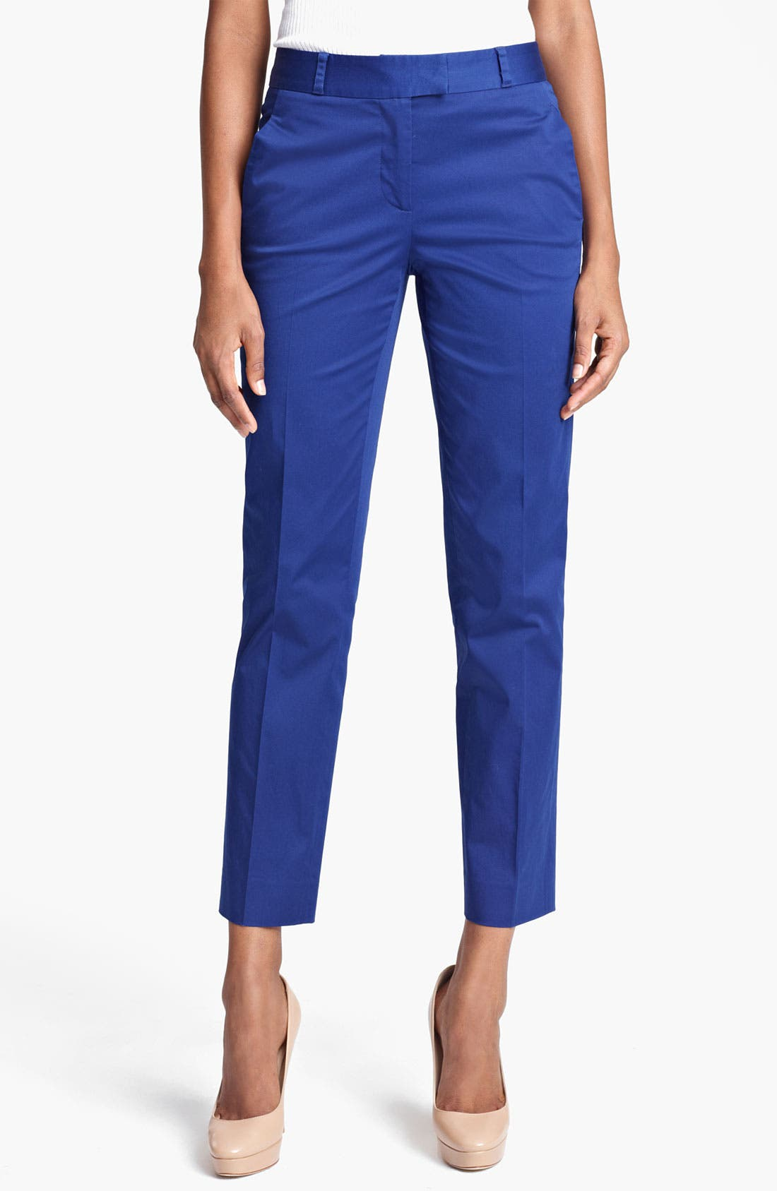Alternate Image 1 Selected - Moschino Cheap & Chic Flat Front Crop Pants