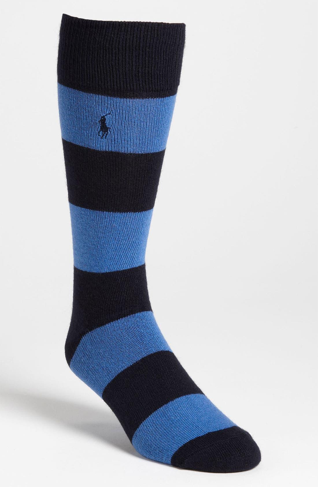 Alternate Image 1 Selected - Polo Ralph Lauren Rugby Stripe Socks