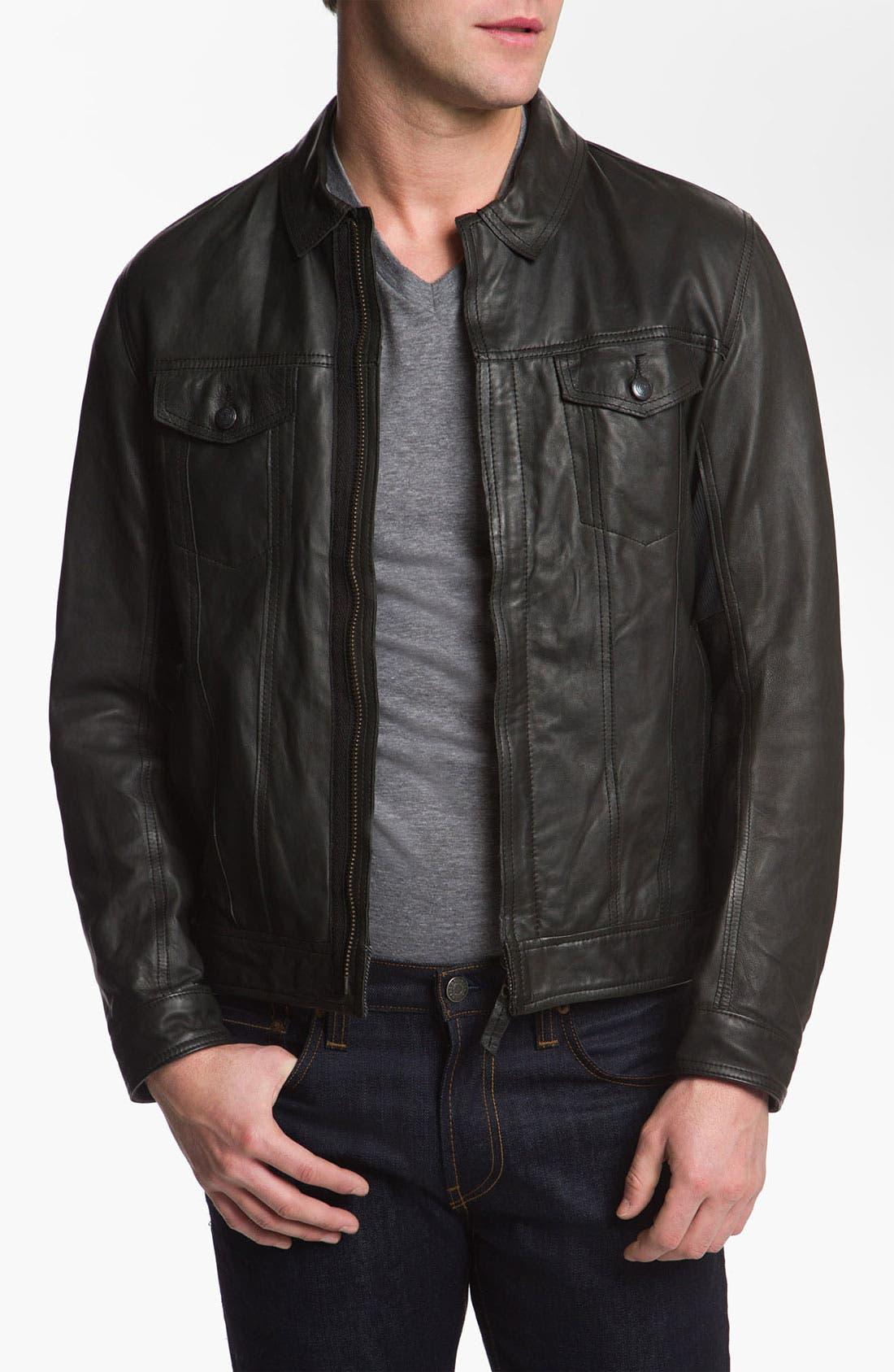 Alternate Image 1 Selected - Edun 'Classic' Leather Moto Jacket