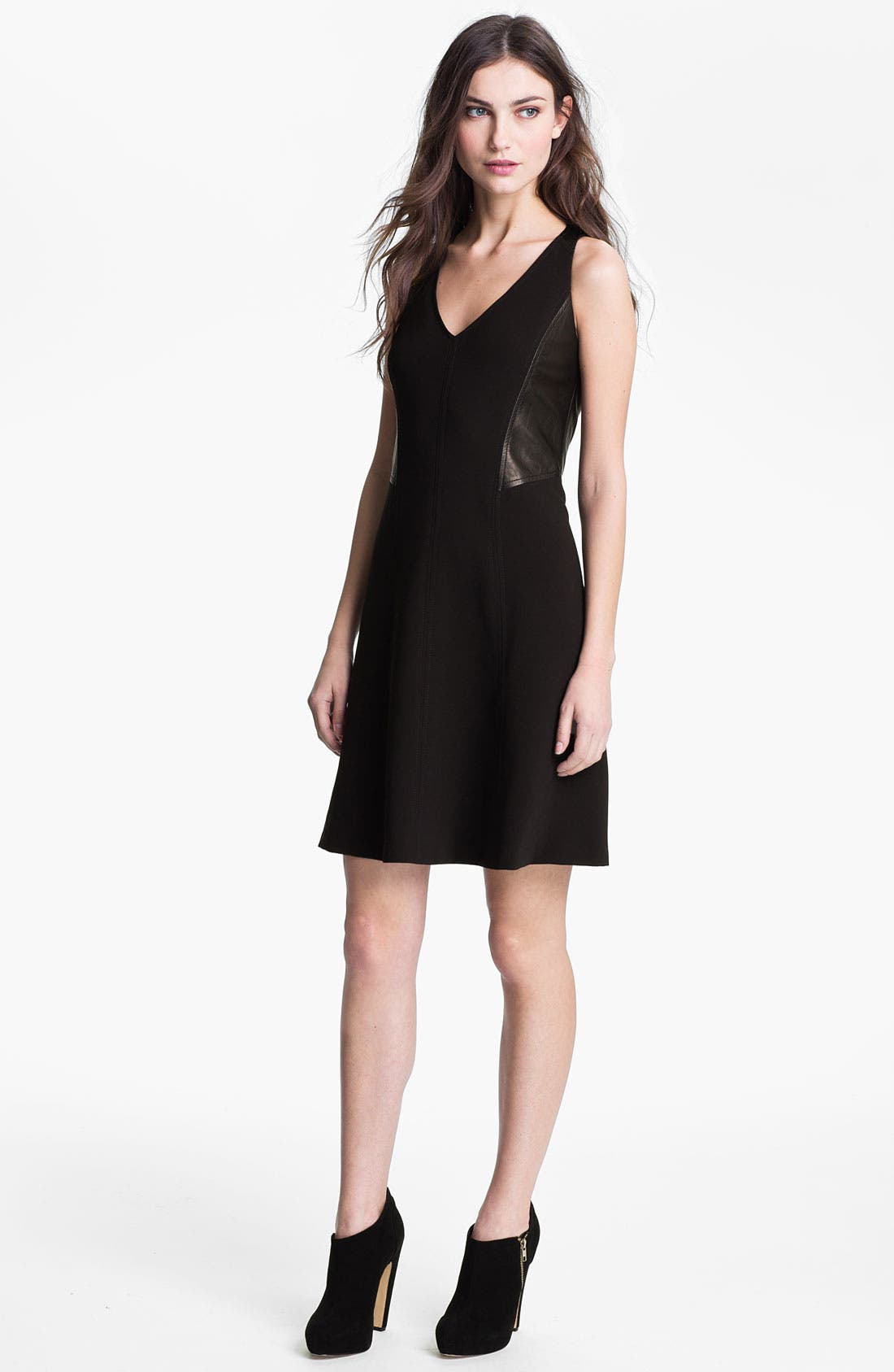 Alternate Image 1 Selected - Rebecca Taylor Paneled A-Line Dress