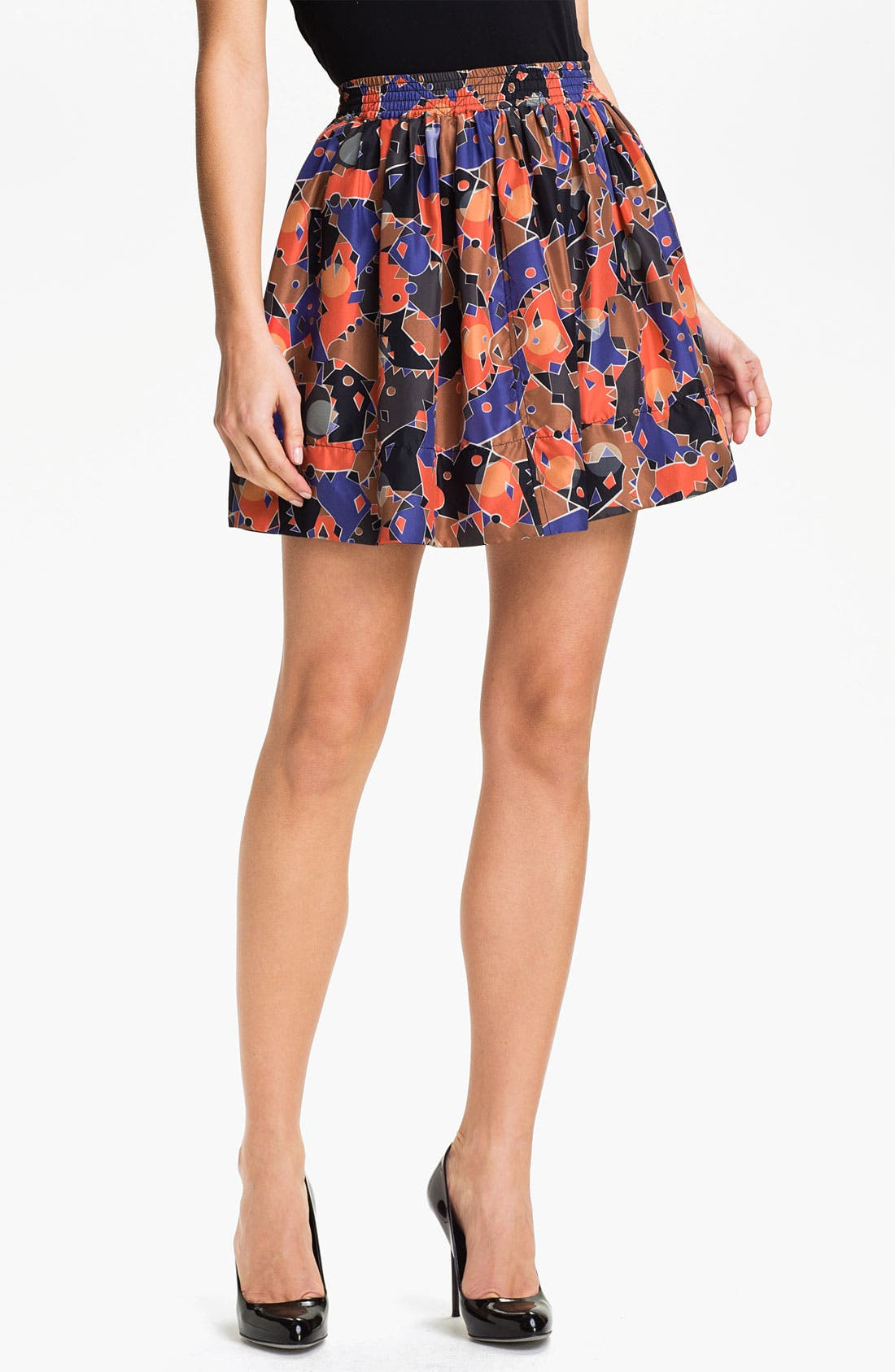 Main Image - MARC BY MARC JACOBS 'Nata' Print Silk Skirt