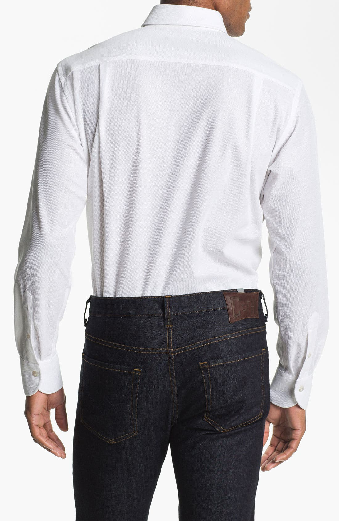 Alternate Image 2  - Canali Regular Fit Knit Italian Sport Shirt
