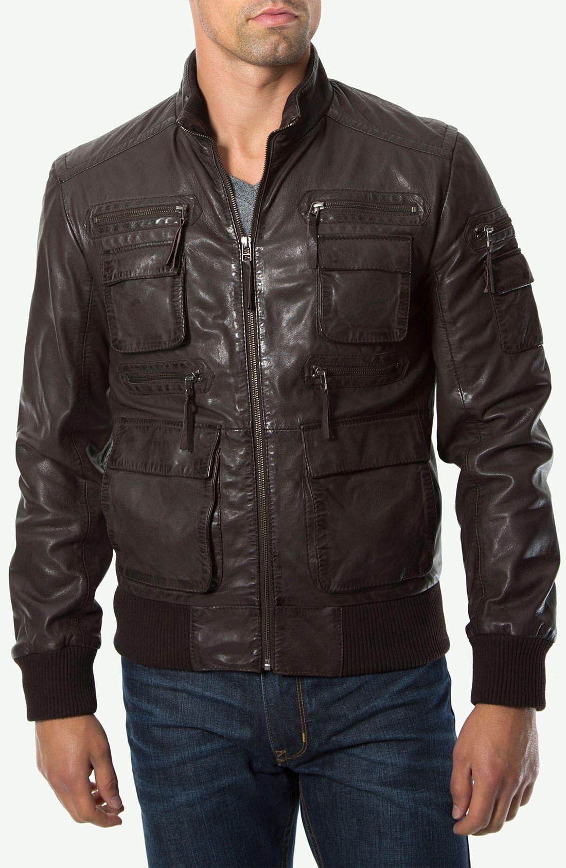 Alternate Image 1 Selected - 7 Diamonds 'Detroit' Leather Jacket