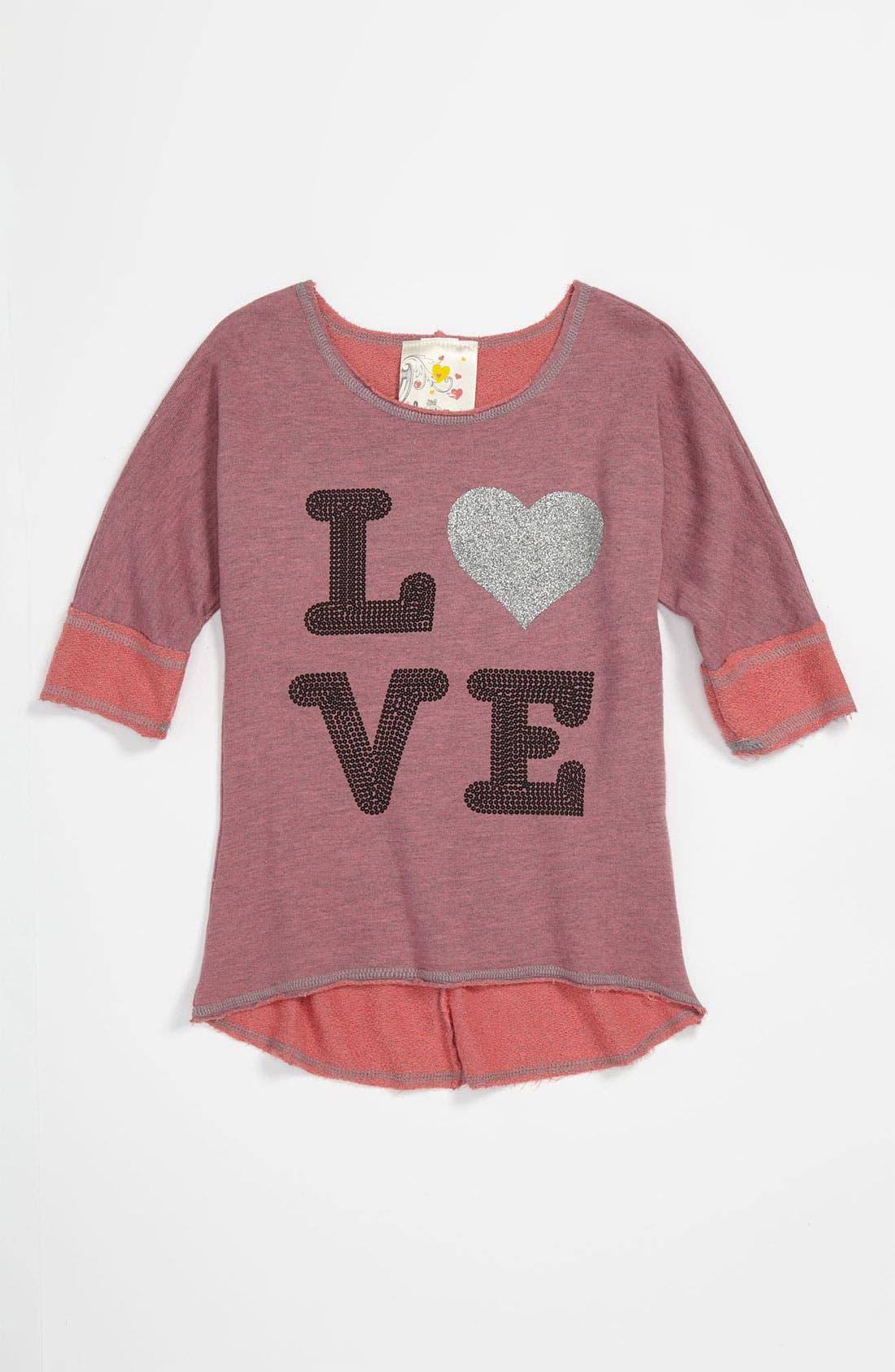 Alternate Image 1 Selected - Jenna & Jessie 'Love' Tunic (Little Girls)