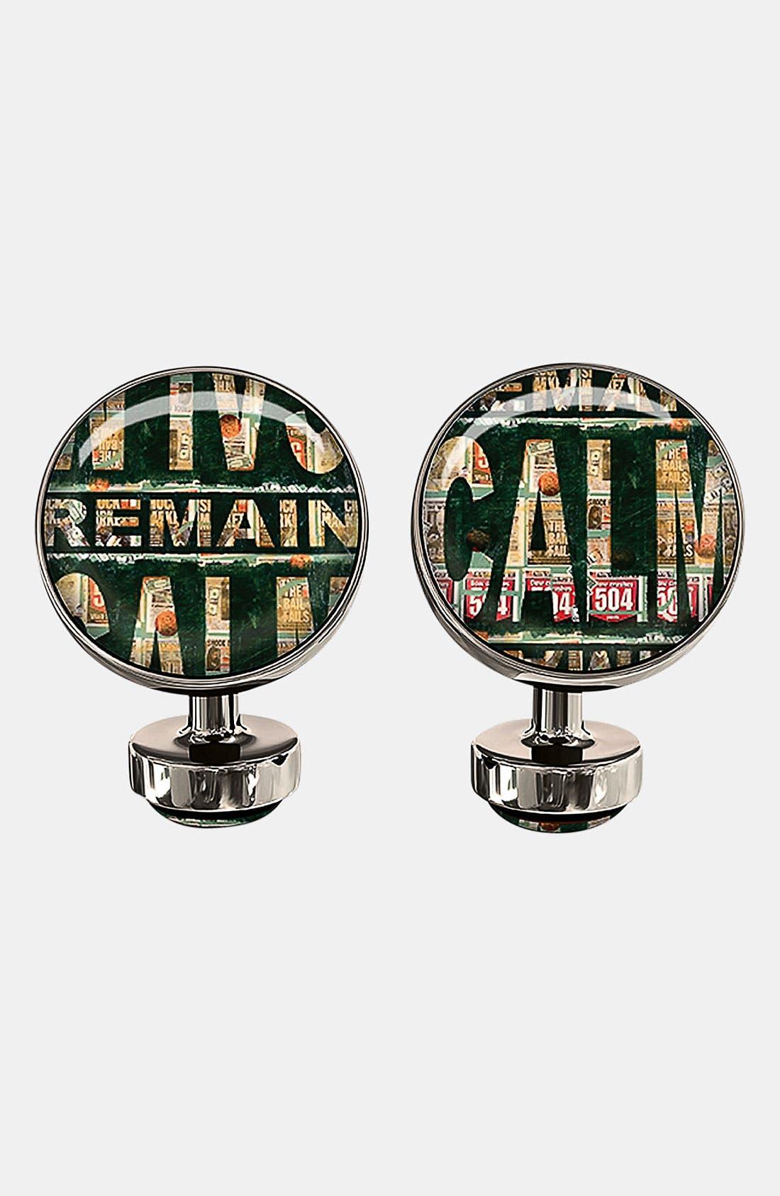 Main Image - Würkin Stiffs 'Remain Calm' Round Cuff Links