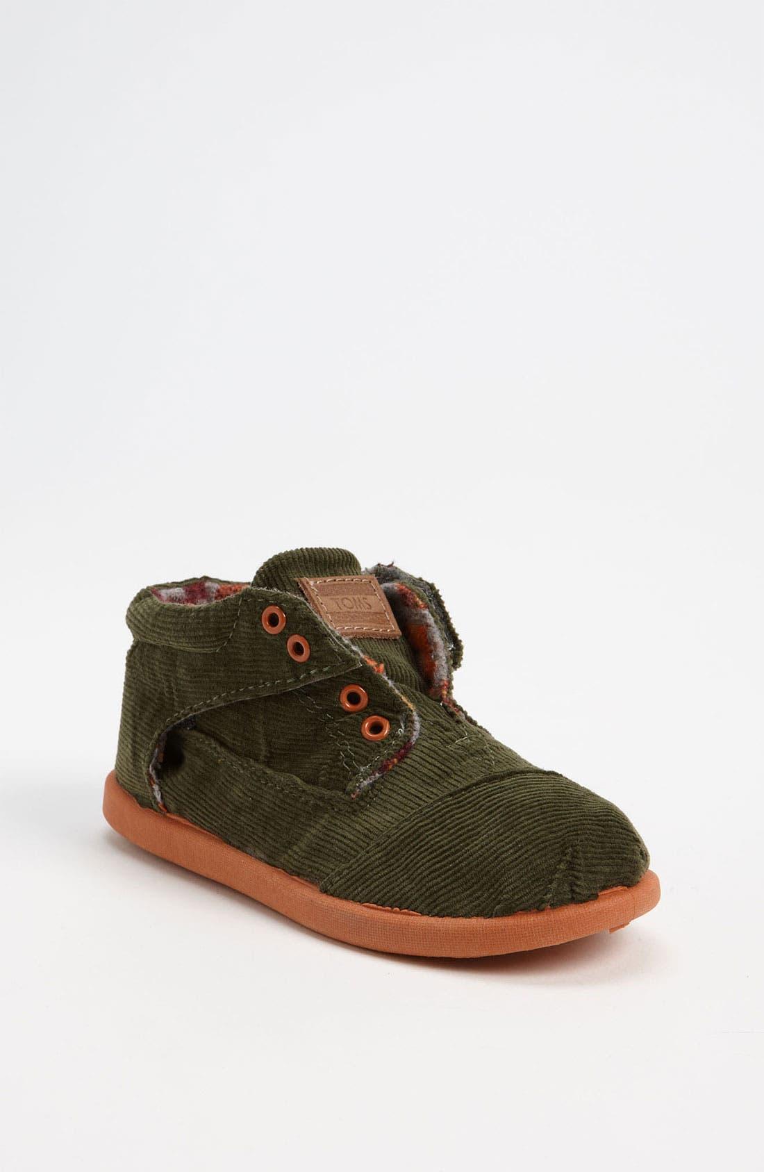 Alternate Image 1 Selected - TOMS 'Botas' Corduroy Boot (Baby, Walker & Toddler)