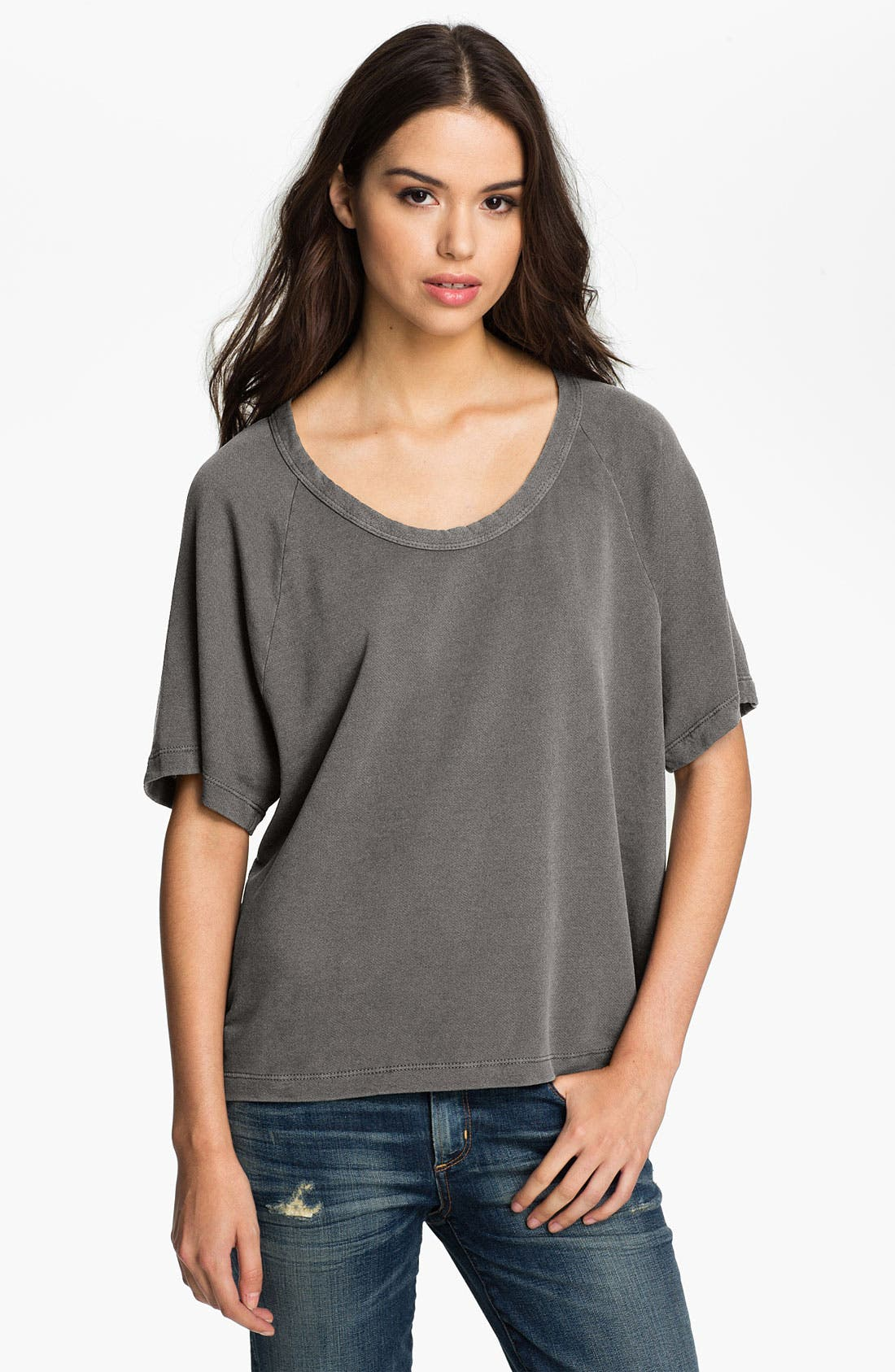Main Image - James Perse Short Sleeve Oversized Sweatshirt