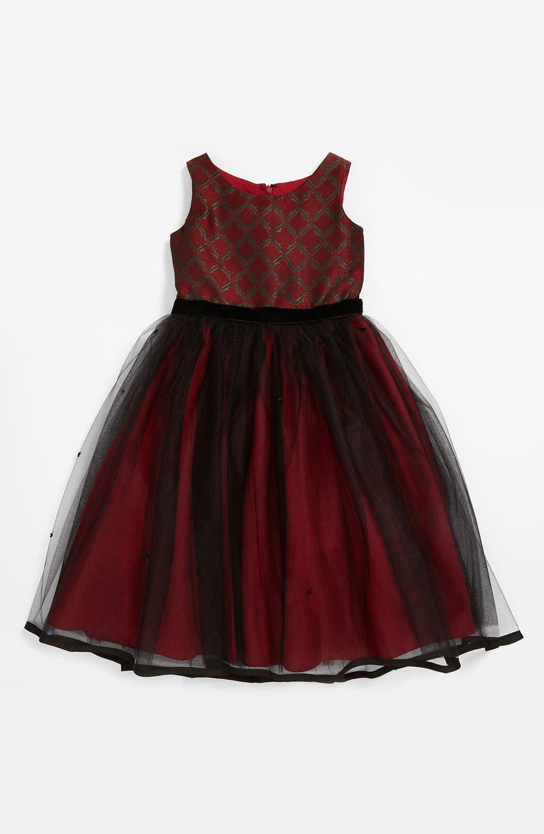 Alternate Image 1 Selected - Us Angels Tulle Dress (Little Girls & Big Girls)