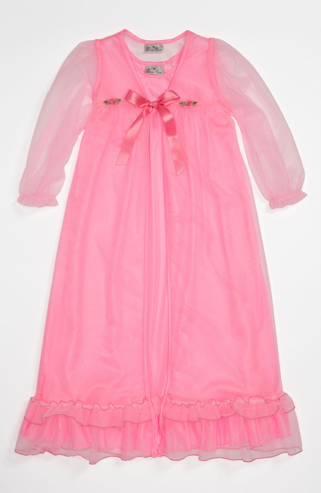 Main Image - Laura Dare Nightgown & Robe (Little Girls)
