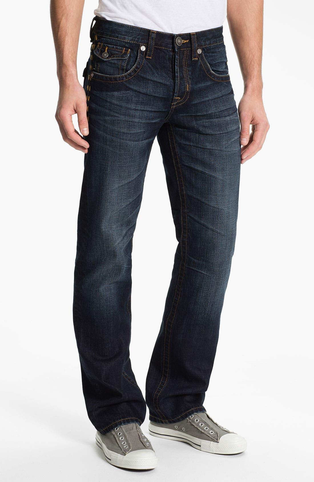 Alternate Image 2  - MEK Denim 'Tucker' Straight Leg Jeans (Chandler)