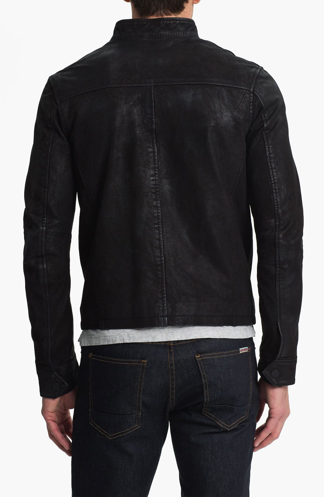 Alternate Image 2  - Rogue Leather Moto Jacket