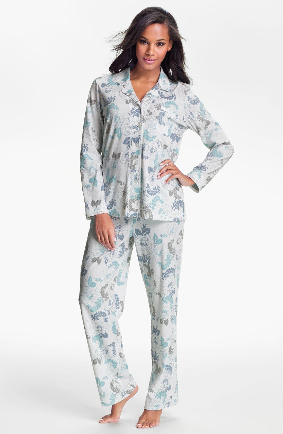 Main Image - Carole Hochman Designs 'Airbrushed Floral' Pajamas