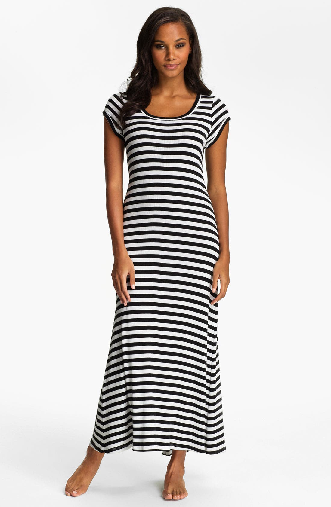 Alternate Image 1 Selected - Lauren Ralph Lauren Stripe Knit Maxi Gown