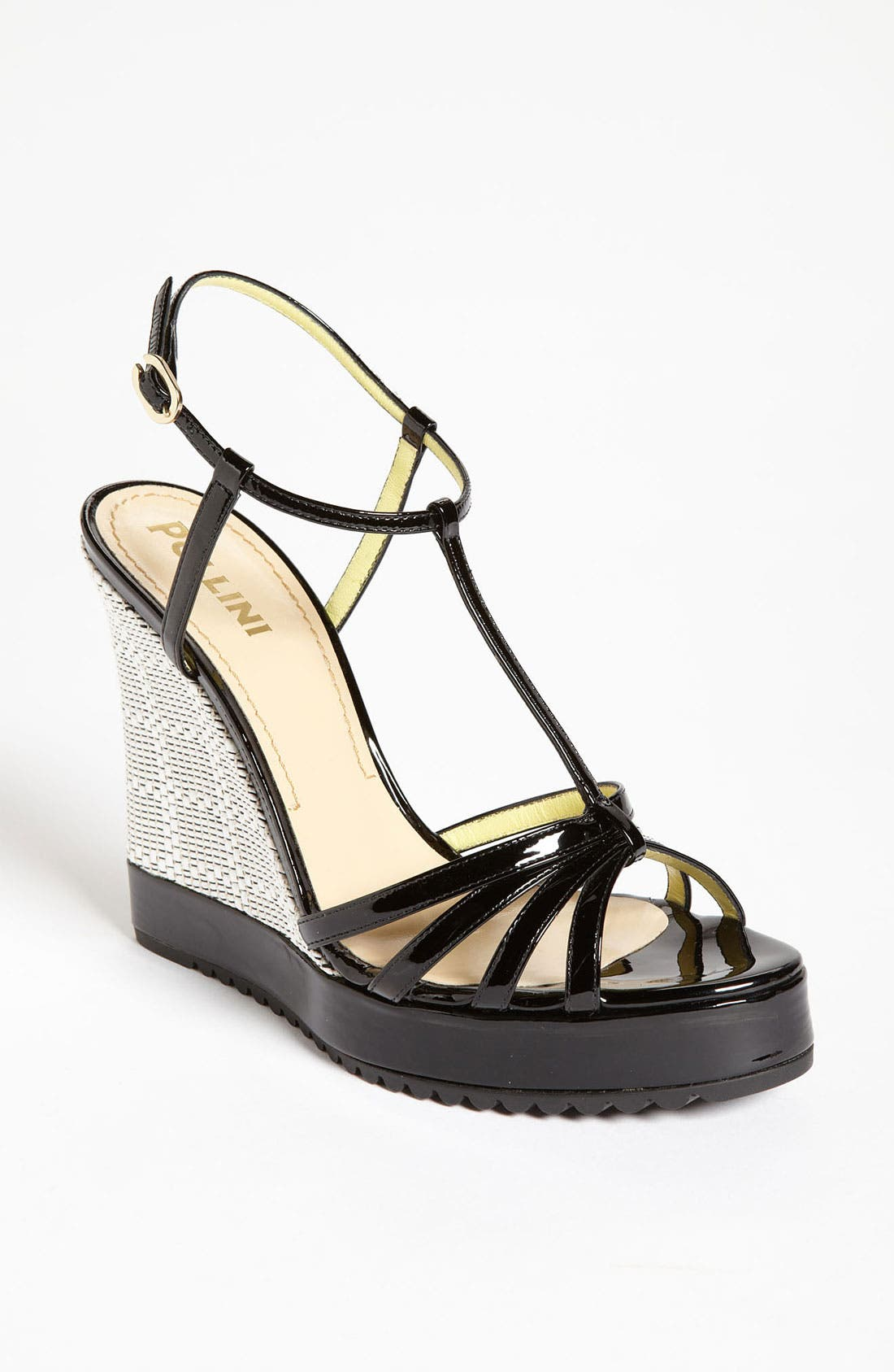 Main Image - Pollini Woven Wedge Sandal