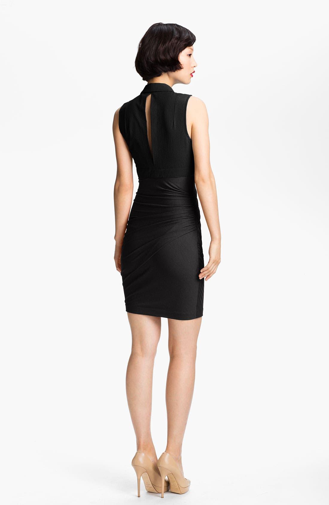 Alternate Image 2  - Carven Woven & Wrap Jersey Dress