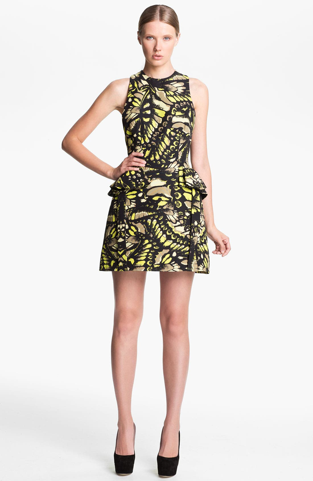 Alternate Image 1 Selected - McQ by Alexander McQueen Fluted Hip Dress