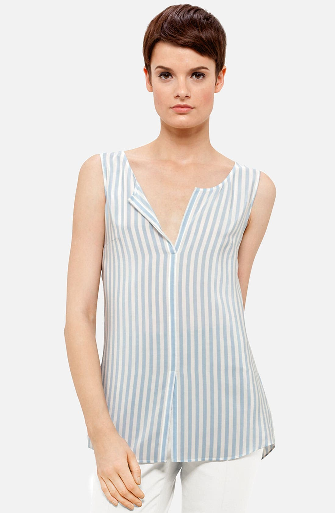 Main Image - Akris punto Stripe Silk Blouse