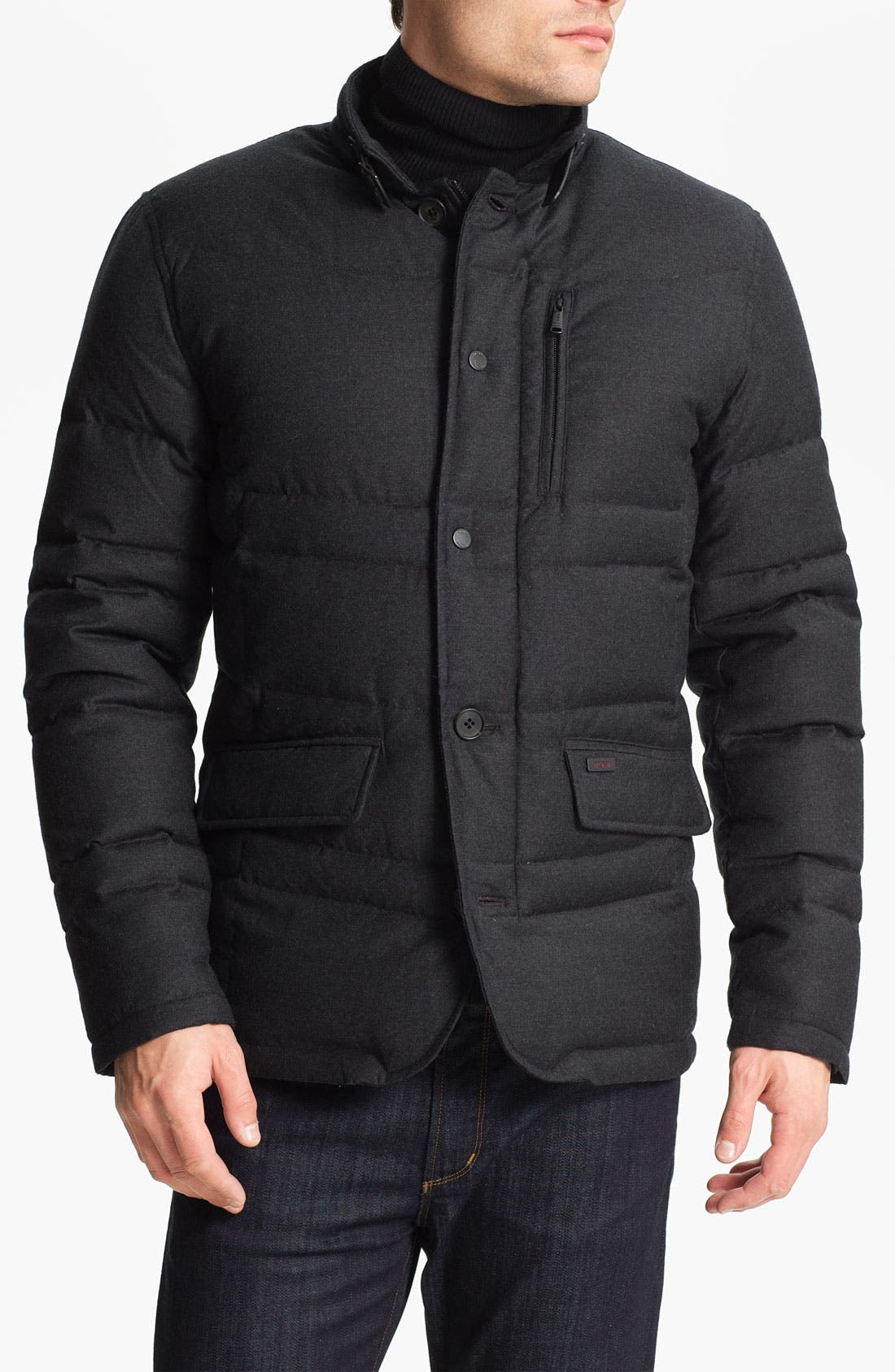 Main Image - Tumi Wool & Cashmere Puffer Jacket with Down Fill