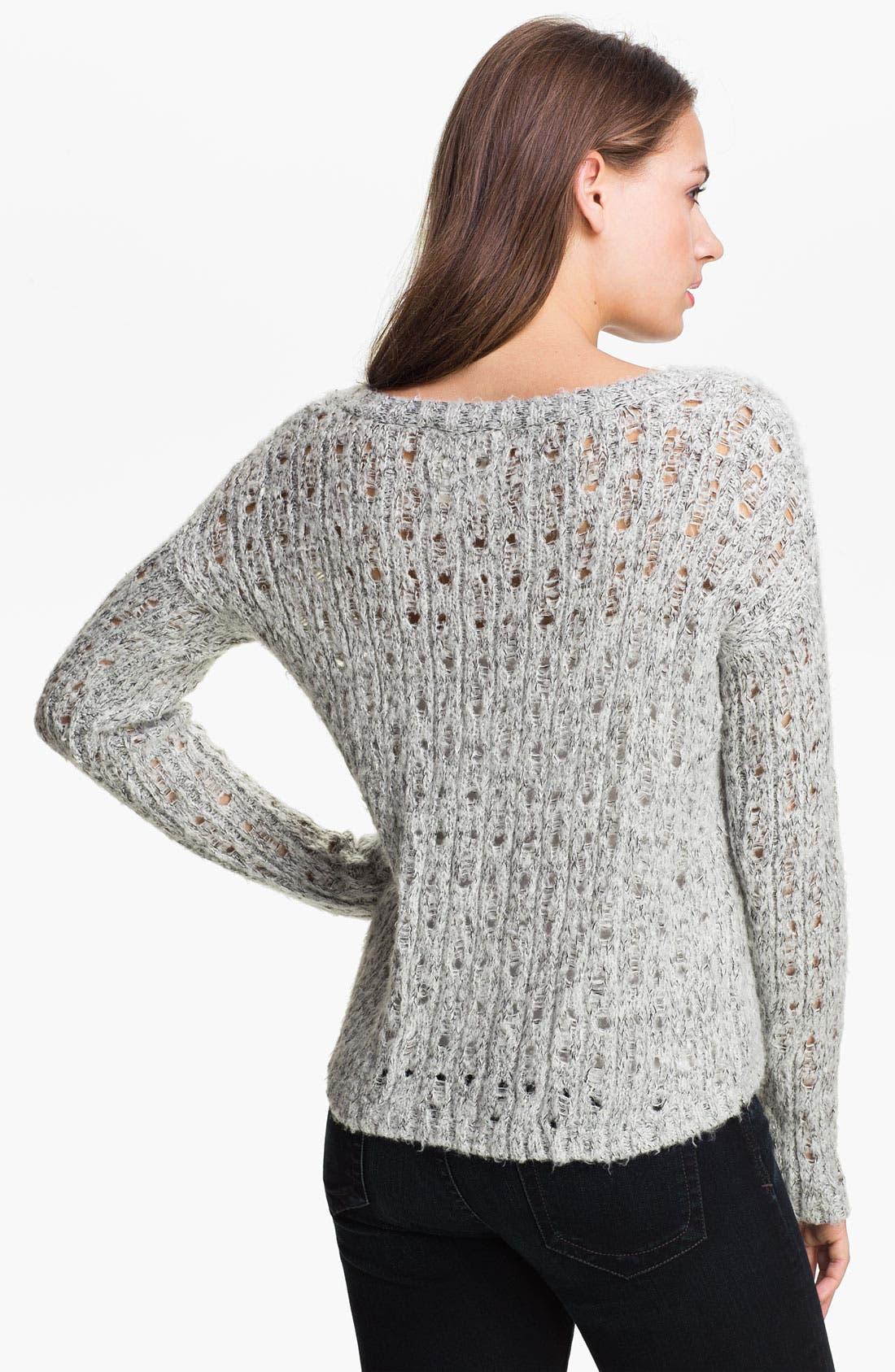 Alternate Image 2  - Kensie Open Stitch Sweater (Online Exclusive)