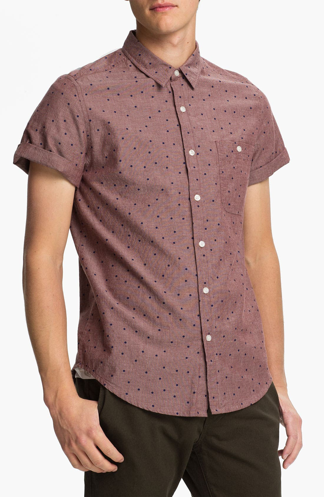 Alternate Image 1 Selected - Topman Polka Dot Woven Shirt