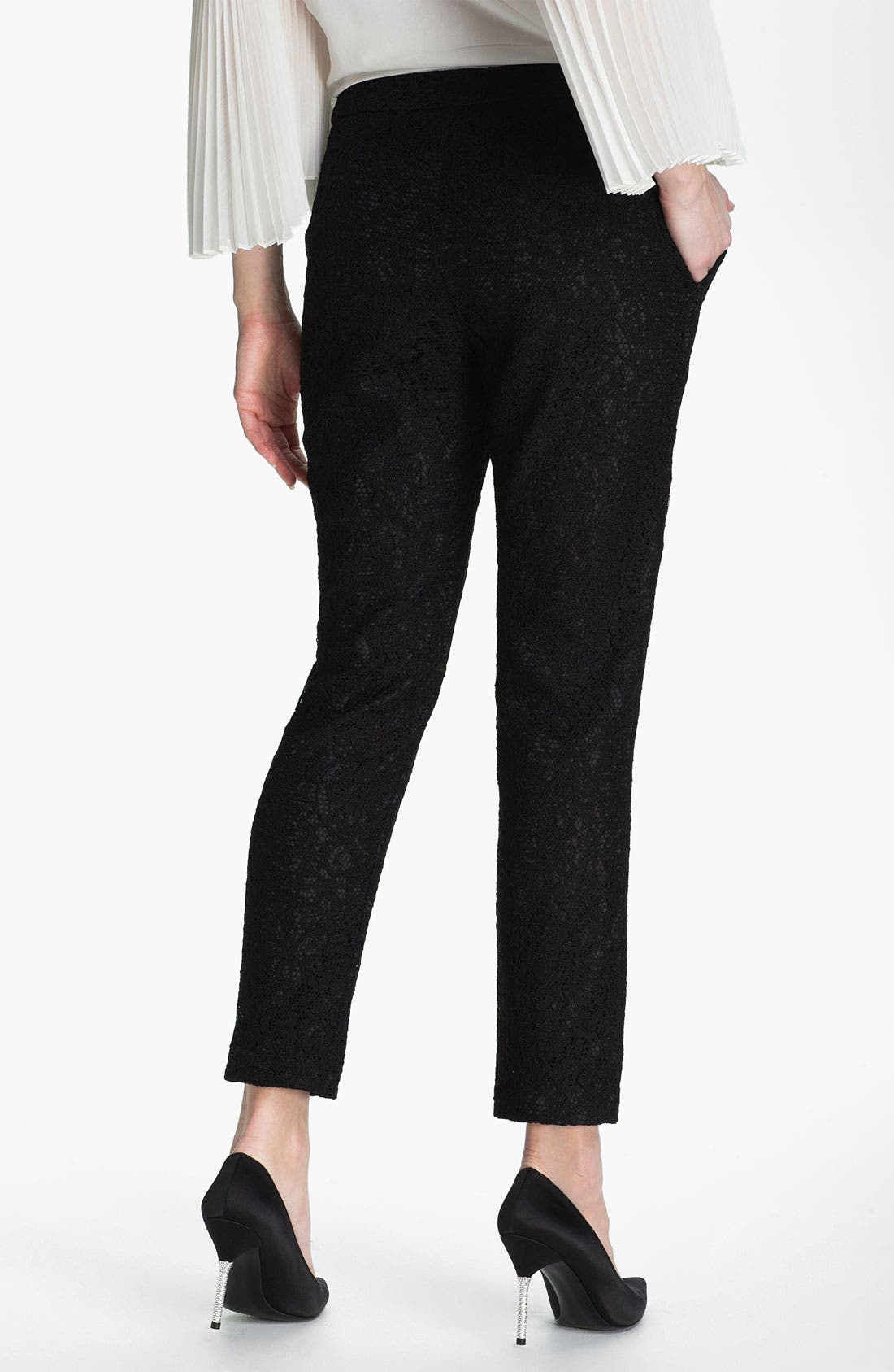 Alternate Image 2  - Adrianna Papell Lace Crop Pants