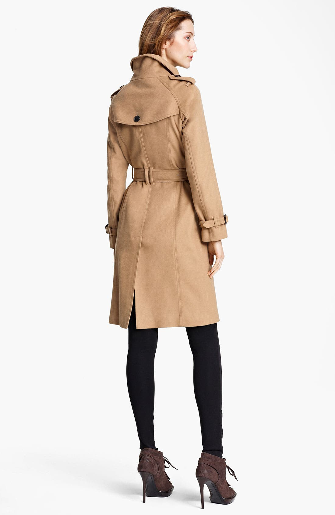 Alternate Image 2  - Burberry London Belted Wool & Cashmere Coat