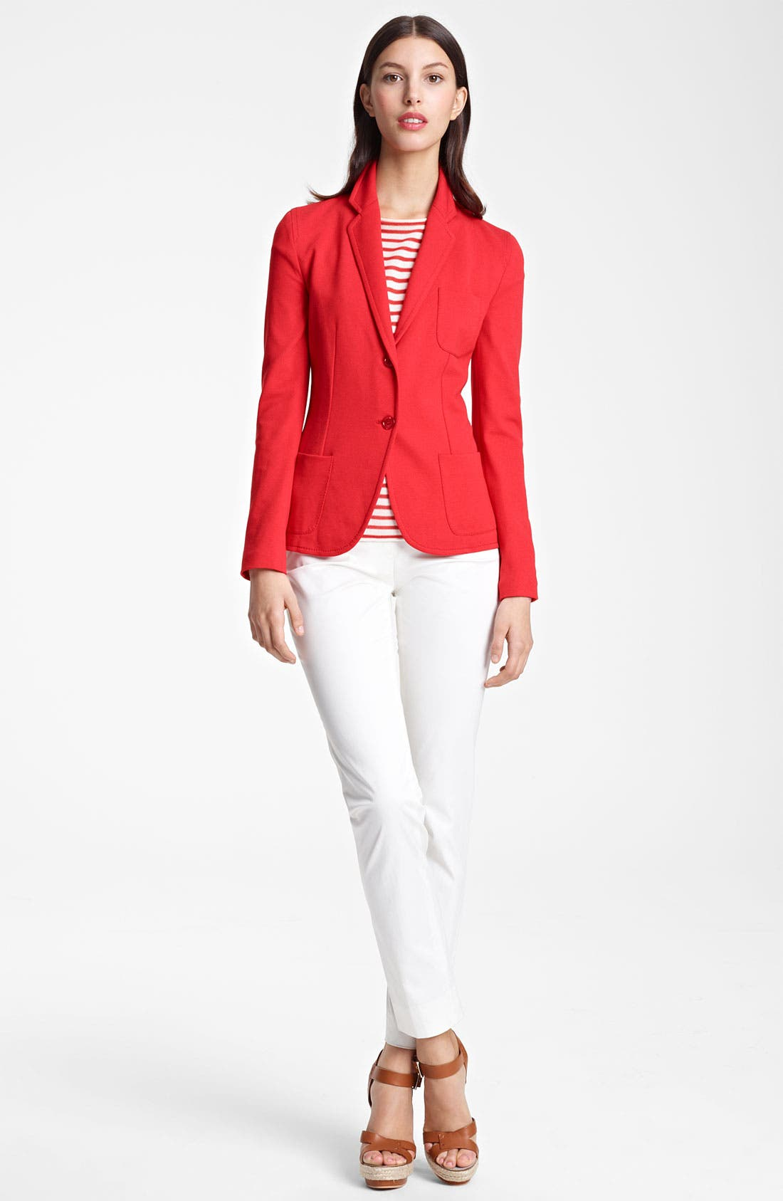 Main Image - Armani Collezioni Two Button Jersey Jacket